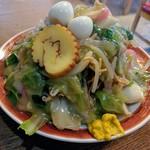 87691070 - カタイ五目焼そば  てんこもり!! あんと野菜のパリパリは完璧
