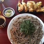 そば処 楽生門 - 料理写真:ざるそば とり天付き 1100円