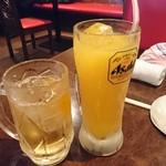 鳥きさんじ - ハイボールとオレンジジュース。