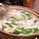 銀座苑 - でた、これ、すっぽん鍋~。