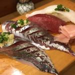 常寿司 - 釣りあじ まぐろ えんがわ