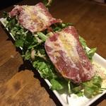 VECTOR BEER - 豚肩ロース生ハムとクレソンのサラダ(980円税別)