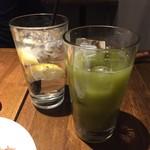 VECTOR BEER - 緑茶ハイ(450円税別)、無農薬レモンサワー(580円税別)