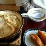 村田家 - 土鍋うどん  と  おいなりさん