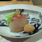 馳走 陽雅 - 造り 鯛 鯛の子 春キャベツ