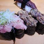 廻転寿司 海鮮 - ネギトロ、まぐろのワタの軍艦