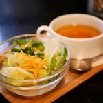 ポコリット - ランチセットのサラダとスープ