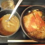 ゆで太郎 - 料理写真:きつねそば350円&カレールー(プライスレス?)(2018.5.12)