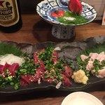 宮崎もも焼き専門店 太一 - 左から砂肝、レバ、ささみ