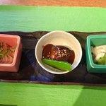 ZOO - 料理写真:前菜3種