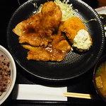 黒豚庵 - 生姜焼・カニクリコロ定食