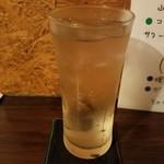 タコヤキ スタンド をごちゃん - 金宮ウイスキーのハイボール