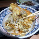 そば 俺のだし - いか天丼(大盛)+ミニ蕎麦970円