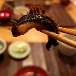 山介 - 鰻のヒレとニラ炒め