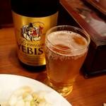 87720264 - エビス瓶ビール600円
