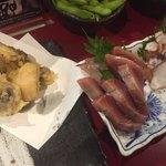 京都ハナビ - 平政とタコの刺身とタコ天
