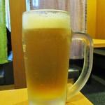 一久庵 - 生ビール 中 560円(税込)。      2018.06.12