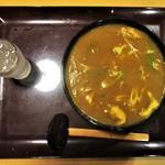 一久庵 - カレーうどん 900円 + 麺 大盛り 100円 = 1,000円(税込)。      2018.06.12