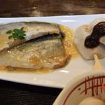 成陣 - メインの煮魚は鯖の白味噌仕立て