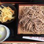 新宿 そば蔵 - もり(野菜かき揚げ付き、600円、税別)