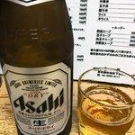 栄龍 - 瓶ビール(中瓶) 550円