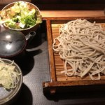 さ竹 - もりそばに野菜サラダで430円
