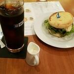 87729480 - エッグマフィンのモーニング(アイスコーヒー430円+100円)