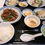 chuugokuryourigouka - 豚肉とカボチャの辛し味噌炒め(ランチ)