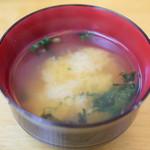 北のどんぶり屋 滝波食堂 - 味噌汁