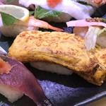 さんきゅう水産 - 鰹たたき、玉子、焼き鯖(2018.6.17)
