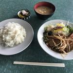 Hokushinkenshiyokudou - ショウガ焼肉+ライス
