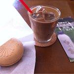 牧成舎 - 焼きモナカとアイスカフェラテ
