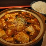 東方明珠飯店 - 料理写真:四川麻婆豆腐+ライス