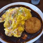 からめ亭 - 料理写真:スクランブルエッグ+コロッケ