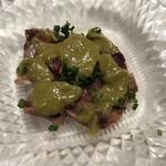 セレスティ - 鰹のカルパッチョに青じそと梅のソース