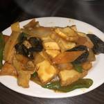 點點心 - 厚揚げとキクラゲの野菜炒め