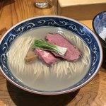 麺屋 坂本01 - 夏の暁をしのぐ夏の牡蠣 (塩) ¥1,000