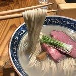 麺屋 坂本01 - 夏の暁をしのぐ夏の牡蠣 (塩) ¥1,000  麺リフト