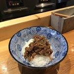 麺屋 坂本01 - 特製和牛時雨煮御飯
