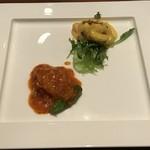 87746149 - 海老のヘルシーマンゴーマヨネーズソースと燕オリジナルチリソース煮