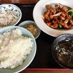龍影 - 「黒酢の酢豚セット」900円
