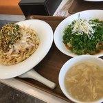 テンテンとタンタン - 料理写真:白身魚とユーリンソース&ミニピーナツ汁無し坦々麺セット