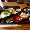 美々卯 - 料理写真:桜海老のかき揚げすだちおろし