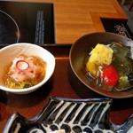 美々卯 - 小鉢&デザート