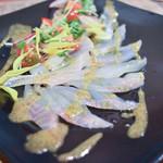 ヨネザワ - 本日のお魚(スズキ)カルパッチョ