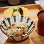 御料理 貴船 - 鱧のタレ焼ご飯