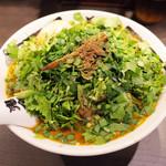 カラシビ味噌らー麺 鬼金棒 - 味玉カラシビ味噌らー麺(900円)+鬼パクチー(450円)