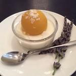 レストラン コーイン - マンゴーシャーベットとパンナコッタ