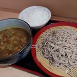 あさひ - カレー南蛮せいろ(490円)+ライス(クーポン)