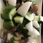 中国家常菜 同心房 - ズリときゅうりの酢の物